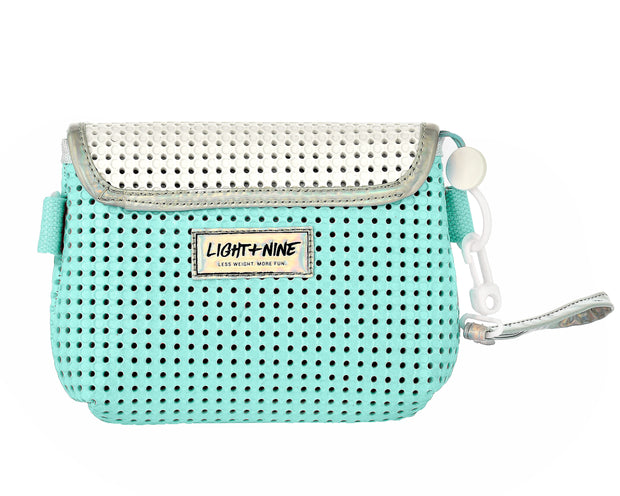 Back view of Convertible Kids Fanny Pack Turq Green