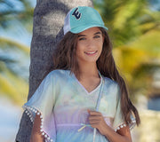 Trucker Hats for Kids Turquoise
