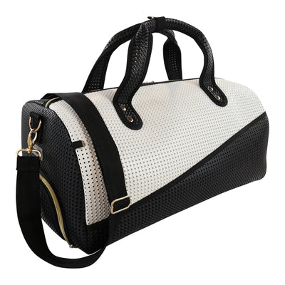 Roma Duffle - Kids duffle bag - Black and White.jpg