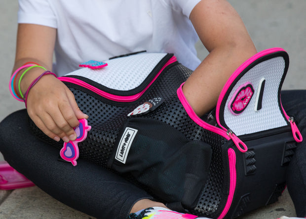 Student Foldable Backpack Neon Pink