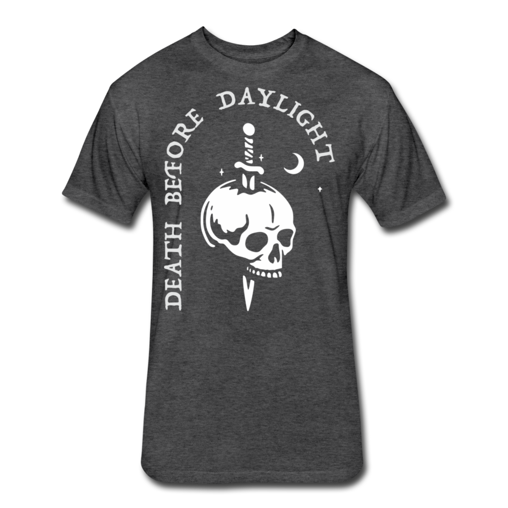 Death Before Daylight (White Print) - heather black