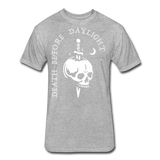Death Before Daylight (White Print) - heather gray