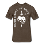 Death Before Daylight (White Print) - heather espresso