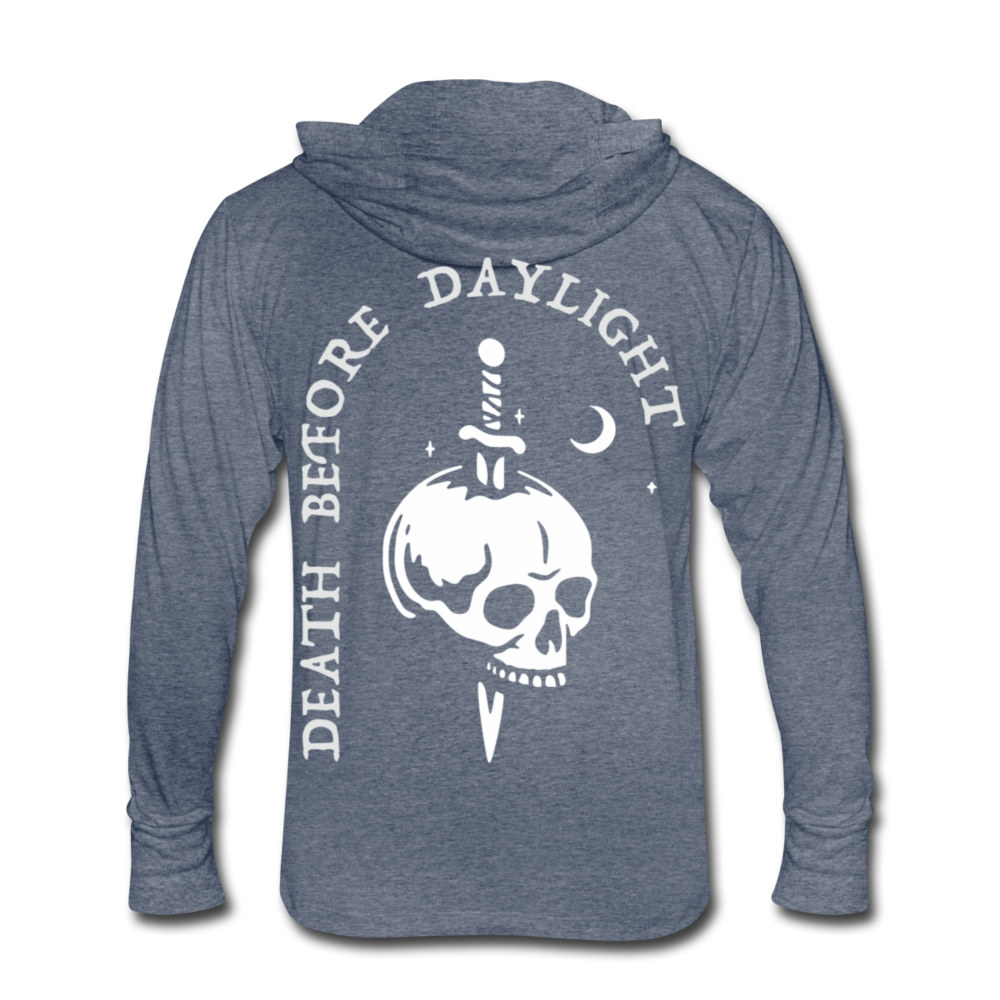 Death Before Daylight Hoodie-Shirt - heather blue