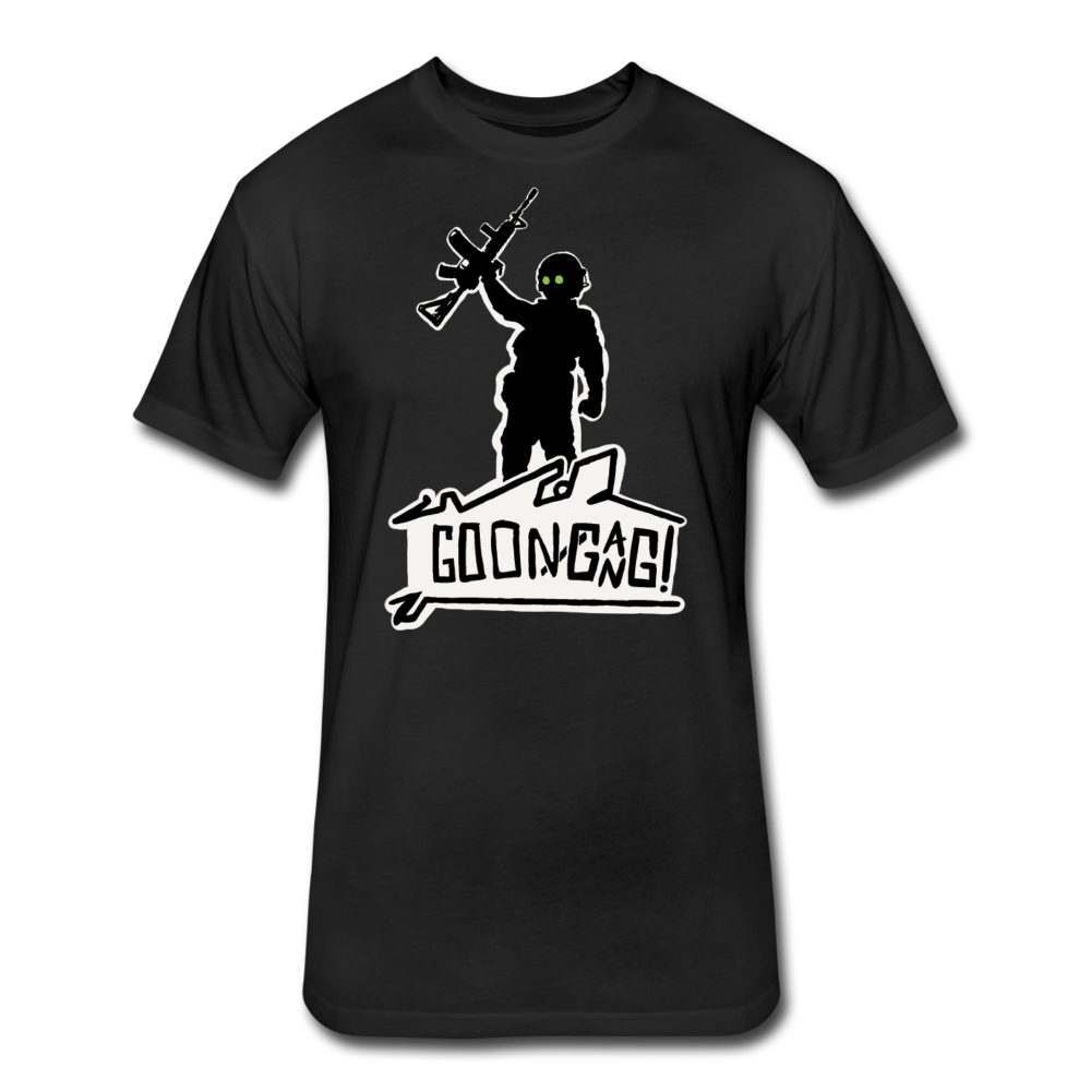 (FITTED/ATHLETIC FIT) Goon Gang T - black
