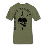 Black Print Death Before Daylight - heather military green