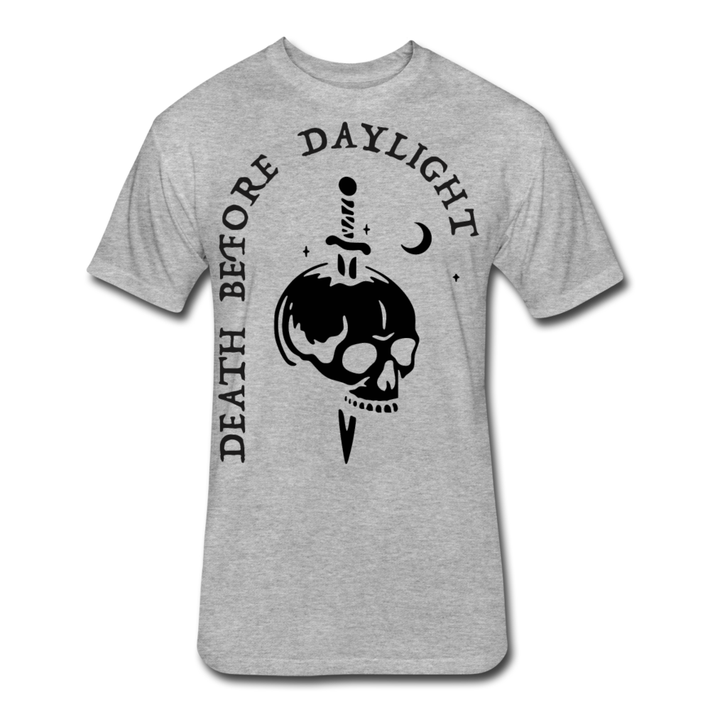 Black Print Death Before Daylight - heather gray