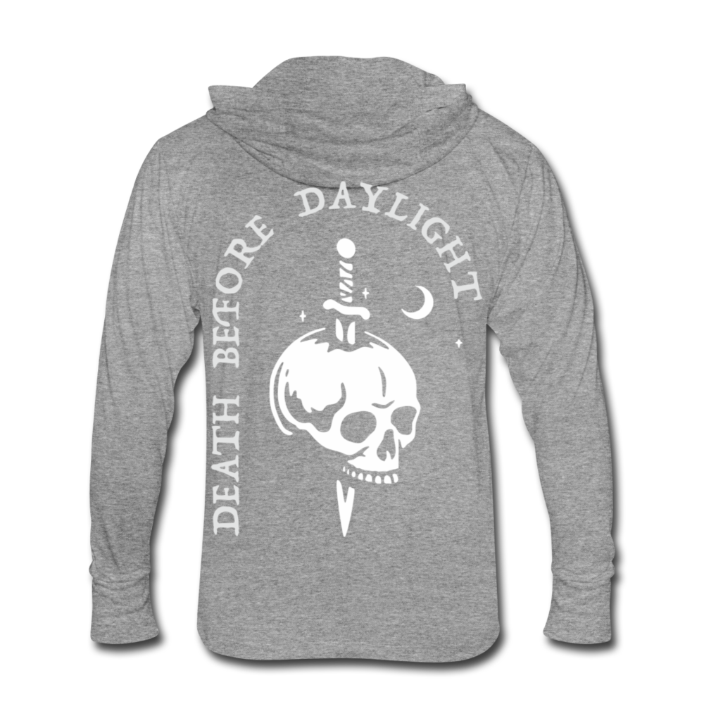Death Before Daylight Hoodie-Shirt - heather gray