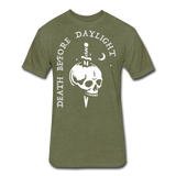 Death Before Daylight (White Print) - heather military green