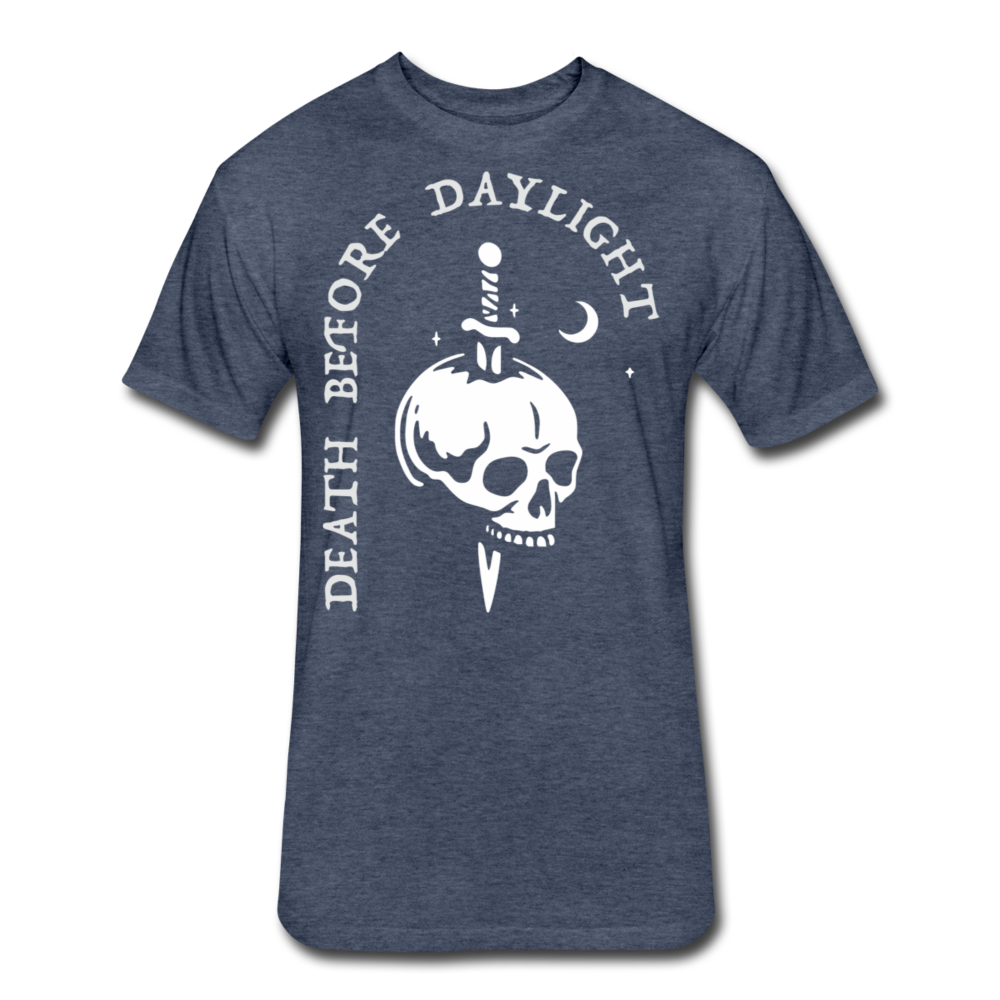Death Before Daylight (White Print) - heather navy