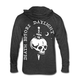Death Before Daylight Hoodie-Shirt - heather black