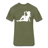 Mistress Of The Dark (White Print) - heather military green