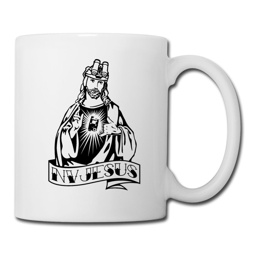 NV Jesus White Mug