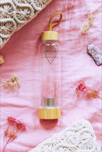 Load image into Gallery viewer, Rose Quartz Crystal Elixir Water Bottle