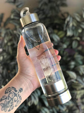 Load image into Gallery viewer, Clear Quartz Crystal Elixir Water Bottle