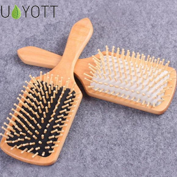 1 Comb Hair Care Brush Massage Wooden - 2 Color Antistatic  Massage Head Promote Blood Circulation