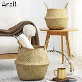 Storage Basket - Rattan Natural - Plants Toys Laundry Storage Holder Container