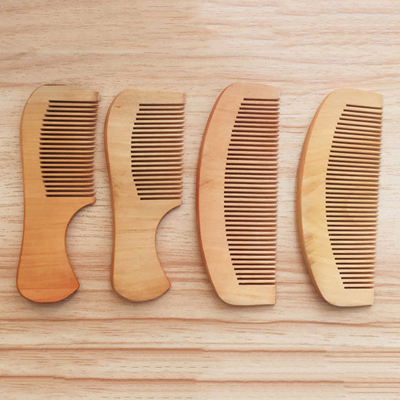 Anti-Static Pocket Wooden Comb - Peach Wood Hair Comb 14cm