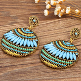 Bohemian Vintage Ethnic Drop Earrings - Beautiful Colors