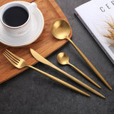 4Pcs/Set Stainless Steel Cutlery Dinner