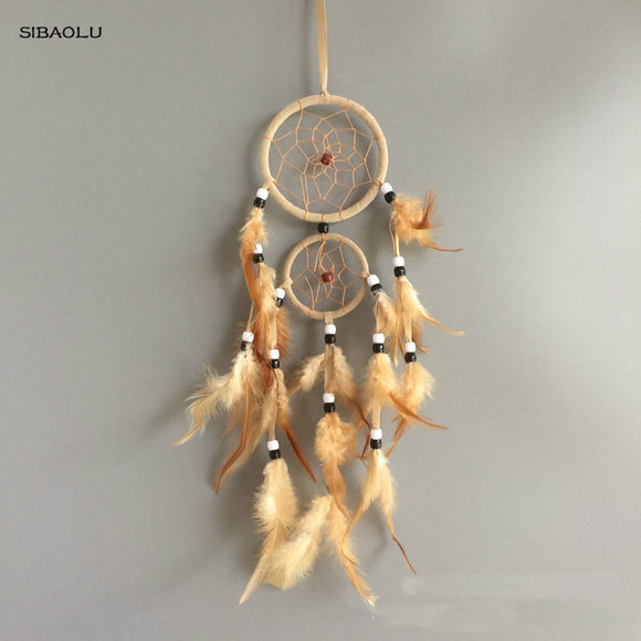 vintage home decoration retro feather dream catcher wall hanging