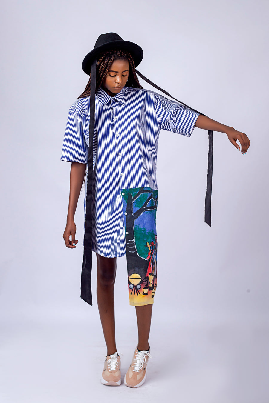 WEARABLE ART SHIRT DRESS