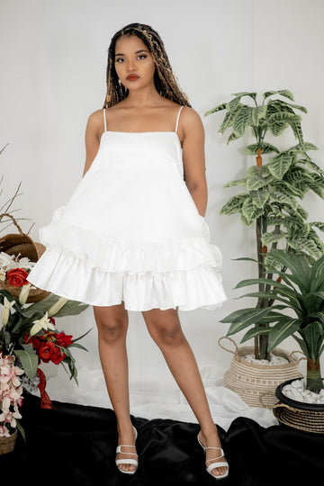 WHITE KOPAX DRESS