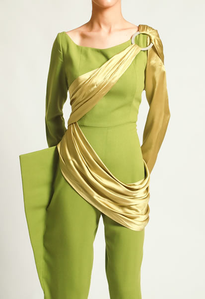 Nato Silk Wrap Jumpsuit