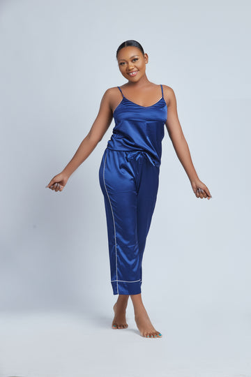 The Light Weight Silk Cami Pajamas Set