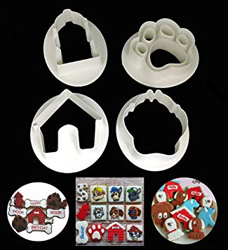 Dog paw and house cutter set