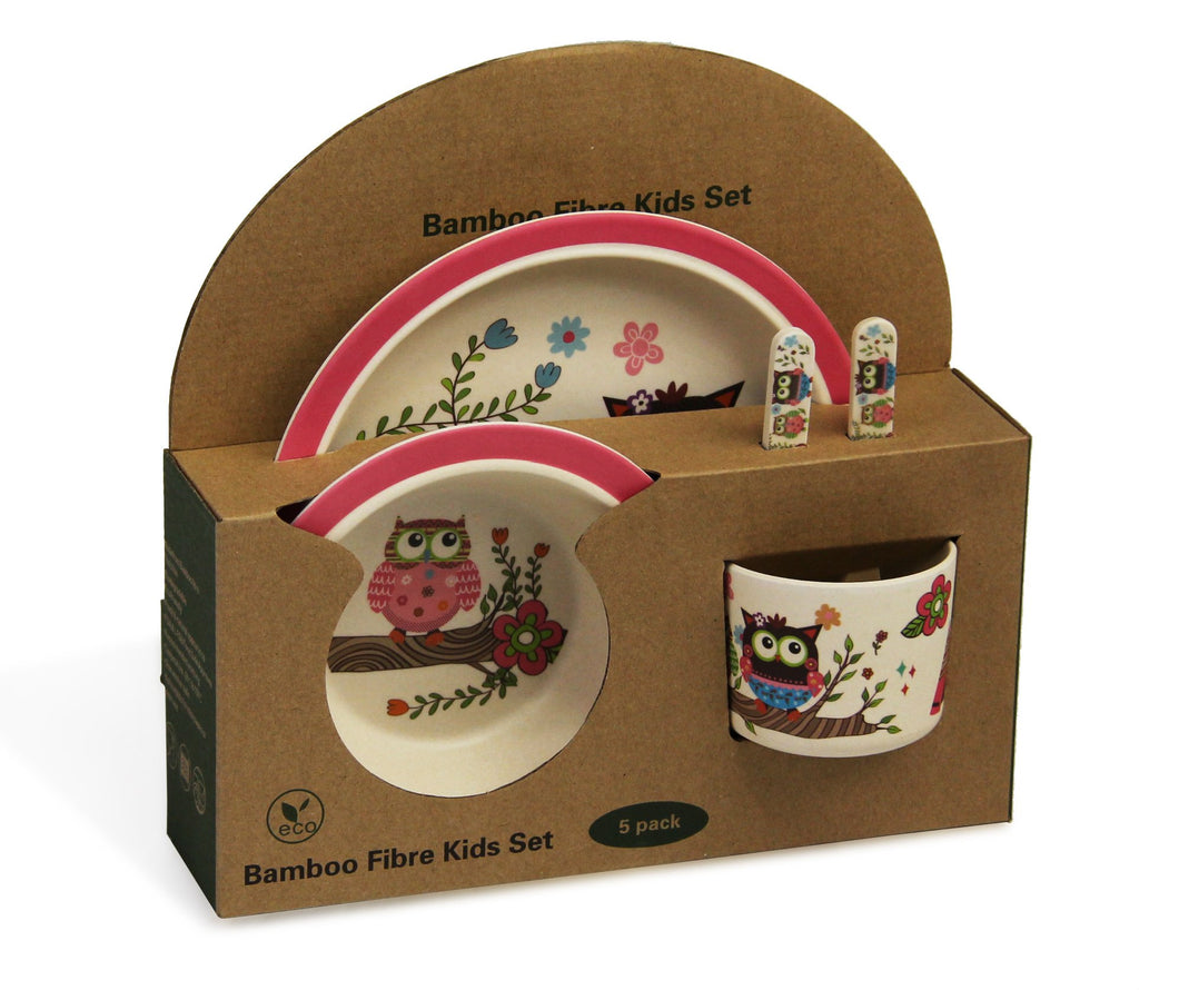 Bamboo dinner set for kids
