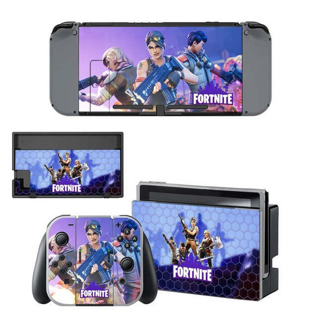vinyl skin sticker fortnite decal cover for nintendo switch console and joystick - cheat codes fortnite nintendo switch