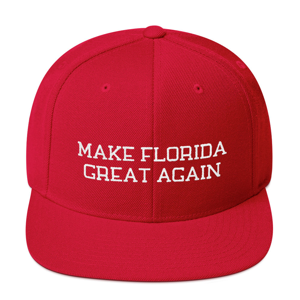 Make Florida Great Again Snapback Embroidered Hat