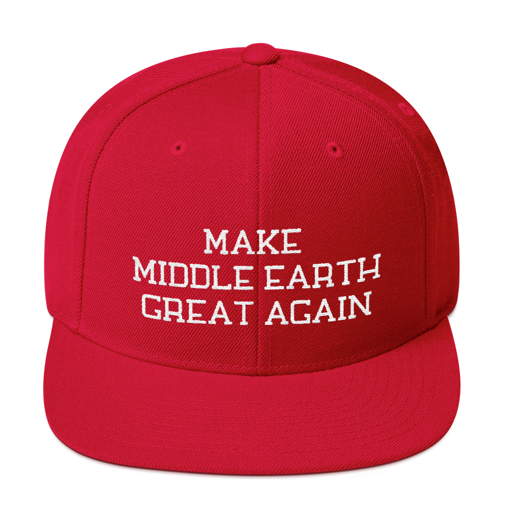 Make Middle Earth Great Again Snapback Embroidered Hat