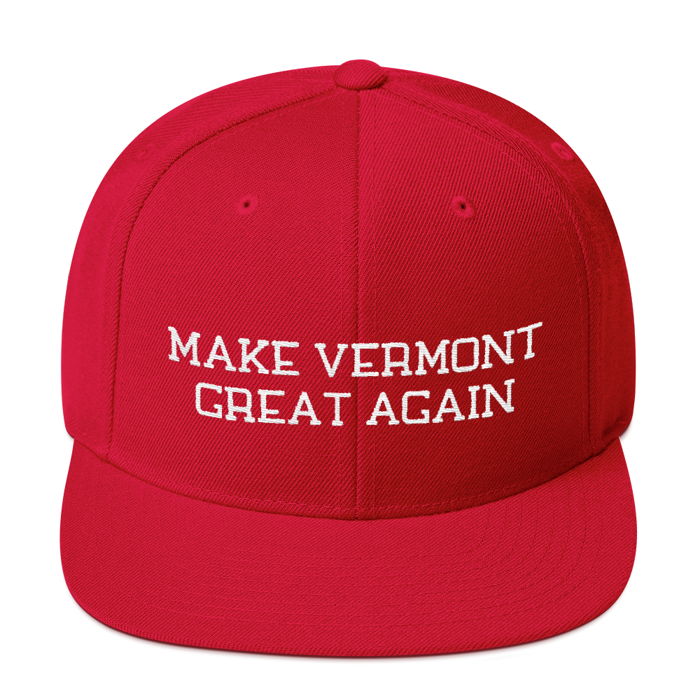 Make Vermont Great Again Snapback Embroidered Hat