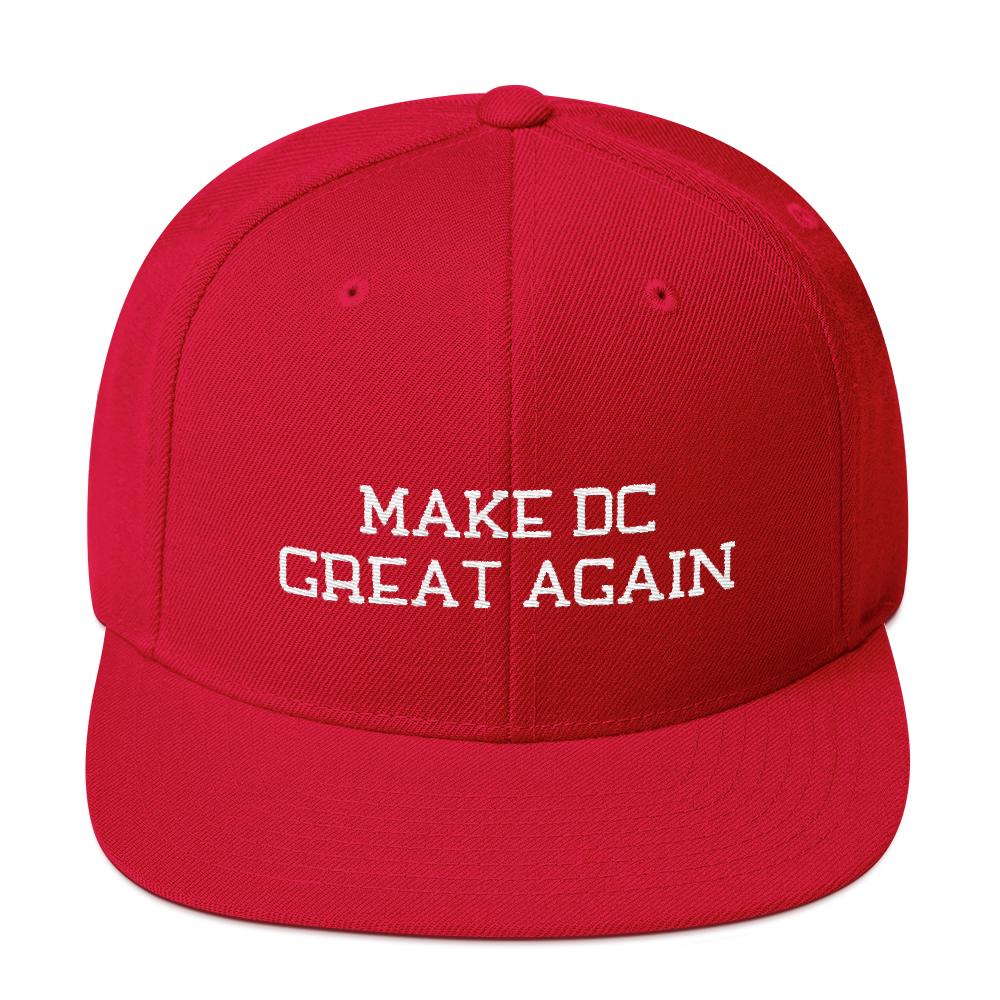 Make DC Great Again Snapback Embroidered Hat