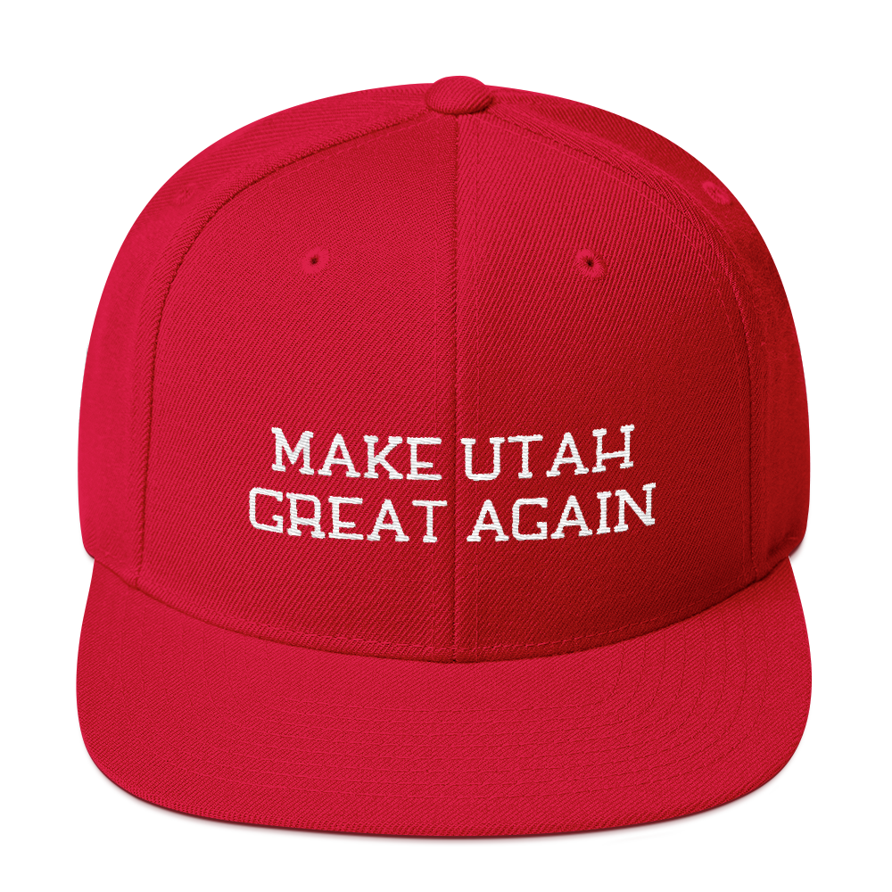Make Utah Great Again Snapback Embroidered Hat