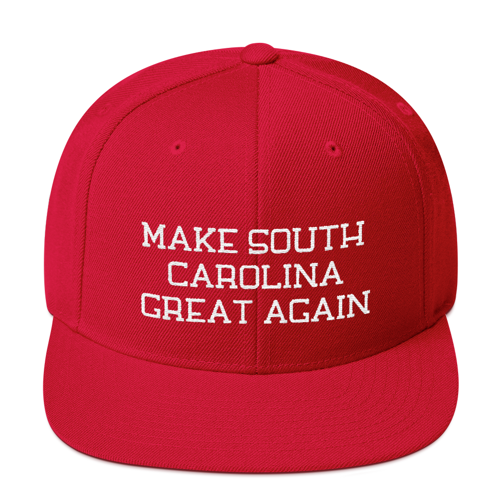Make South Carolina Great Again Snapback Embroidered Hat