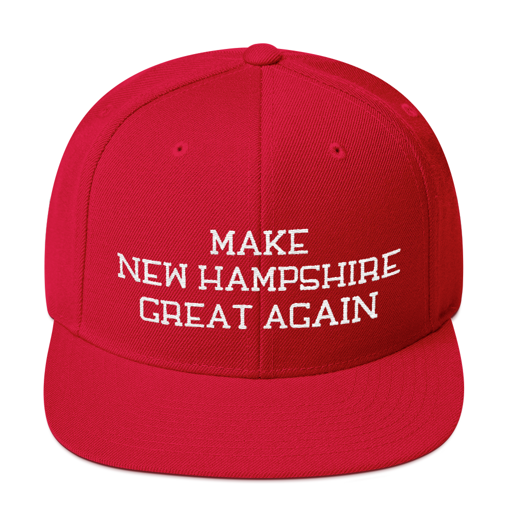 Make New Hampshire Great Again Snapback Embroidered Hat