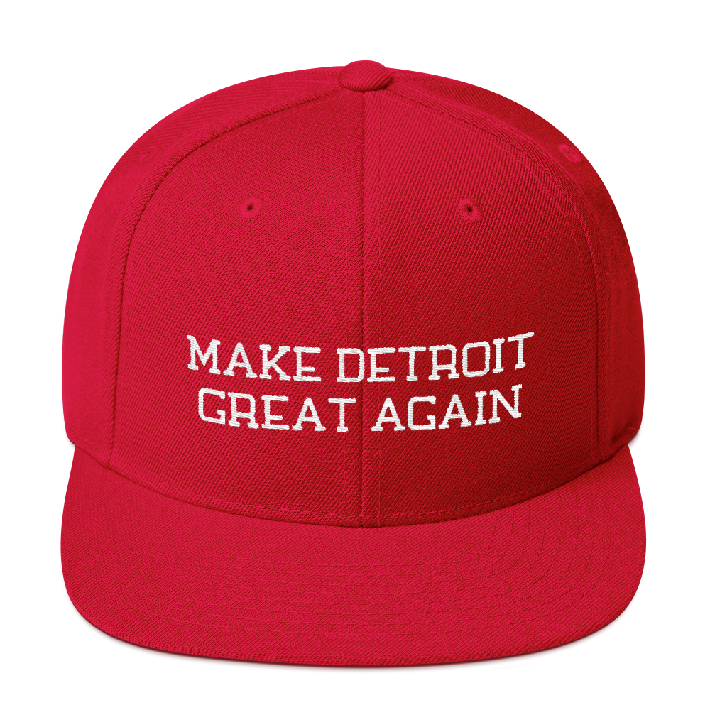 Make Detroit Great Again Snapback Embroidered Hat