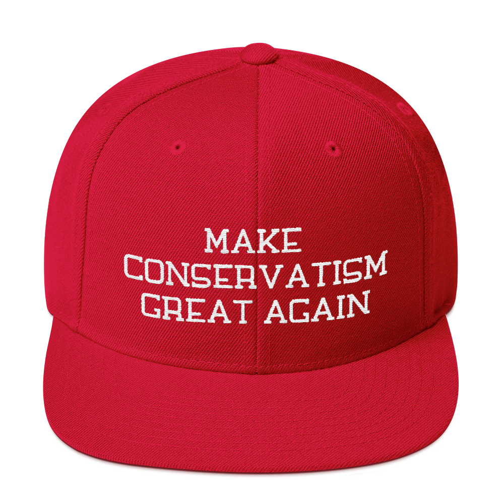 Make Conservatism Great Again Snapback Embroidered Hat