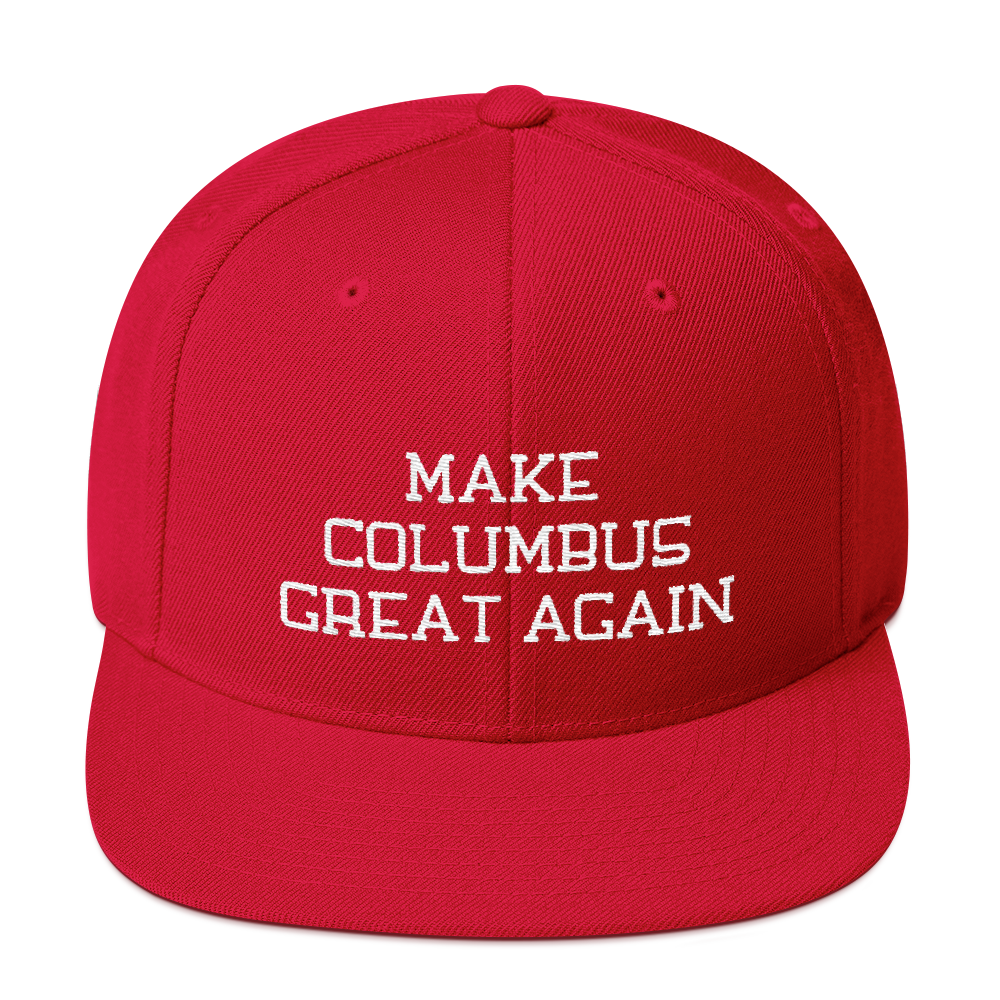 Make Columbus Great Again Snapback Embroidered Hat