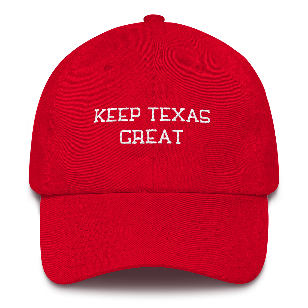 Keep Texas Great Embroidered Hat