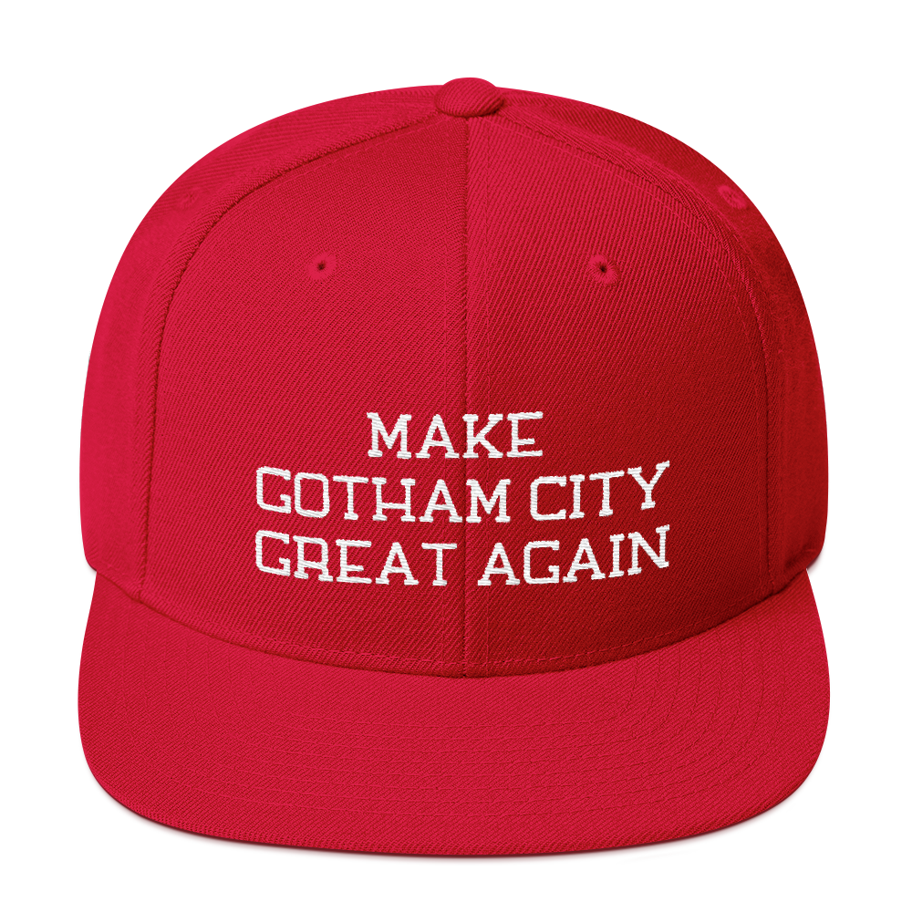 Make Gotham City Great Again Snapback Embroidered Hat