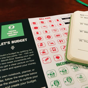 Budget Bear Budgeting Stickers - Create a Personal Budget and Teach Your Kids Budgeting the Fun Way