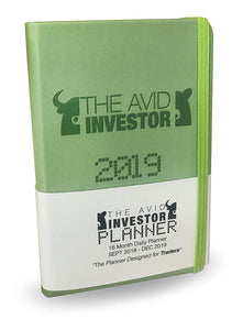 The Avid Investor 2019 Daily Organizer and Finance Planner