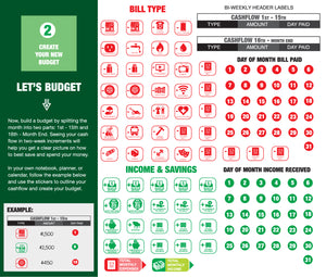 Budget Bear - Home Finance System - Create a Personal Budget Using Stickers with a Plan