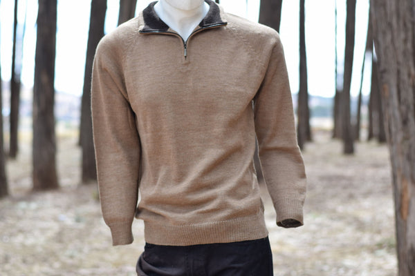 Pullover half-zip sweater