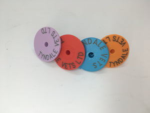 Tyndale coloured button ear tags