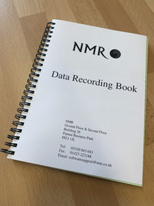 NMR Data Recording Book